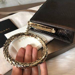 Bulgari Bags - Bvlgari Lizard Serpenti Bangle Bracelet Clutch